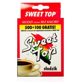 Słodzik stołowy Sweet Top 500 tabletek SASZETKA+100szt gratis